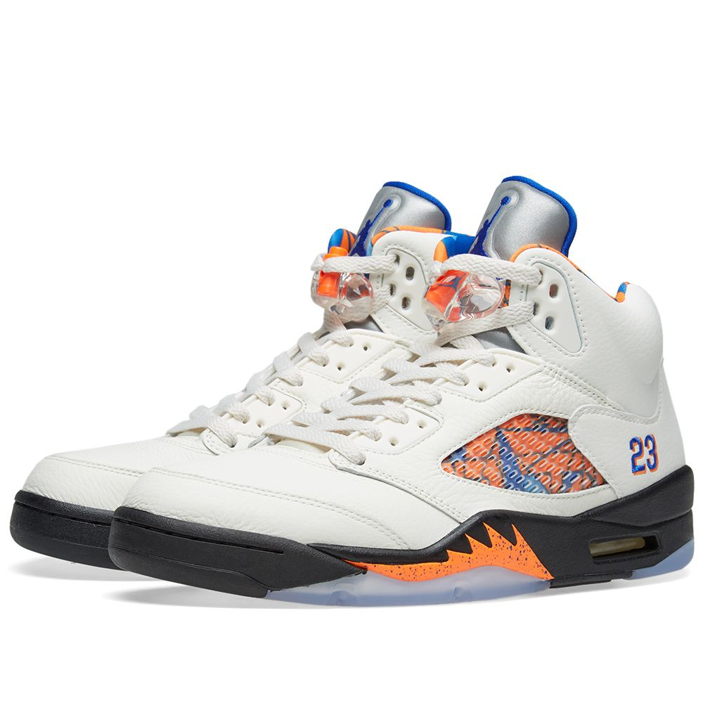 buy popular 5eb06 46a9e Air Jordan 5 Retro Sail, Hyper Royal   Orange   END.