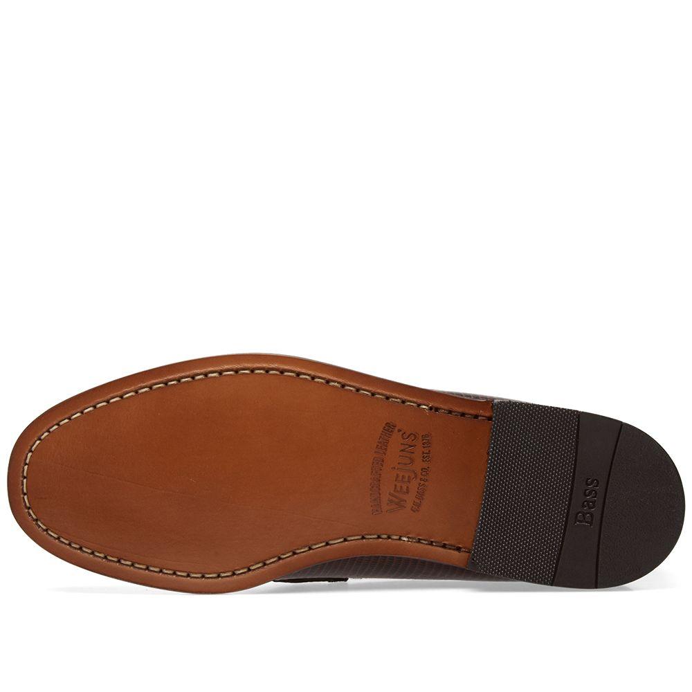 f655fb1b324 Engineered Garments x Weejun Logan Croc Penny Loafer Dark Brown