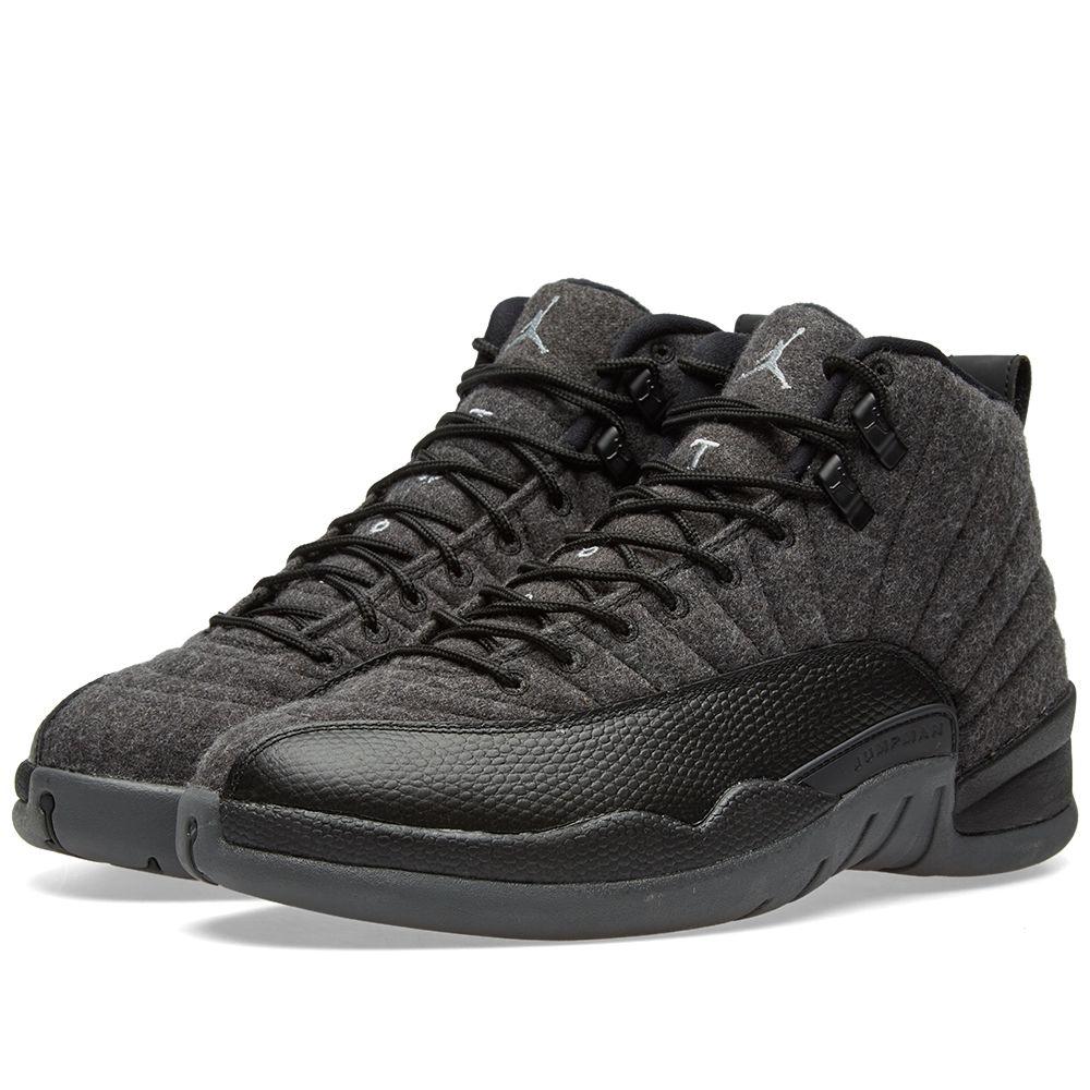 40bcdb30da0c1a Nike Air Jordan 12 Retro Wool. Dark Grey   Metallic Silver. AU 259. image