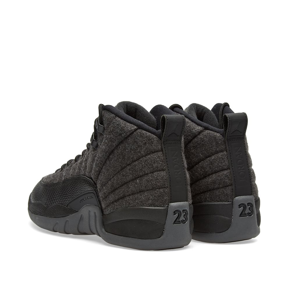 d8b040f58047 Nike Air Jordan 12 Retro Wool BG Dark Grey   Metallic Silver