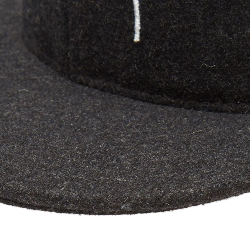 b55d9cc0128 Stussy Smooth Stock Melton Snapback Cap Black