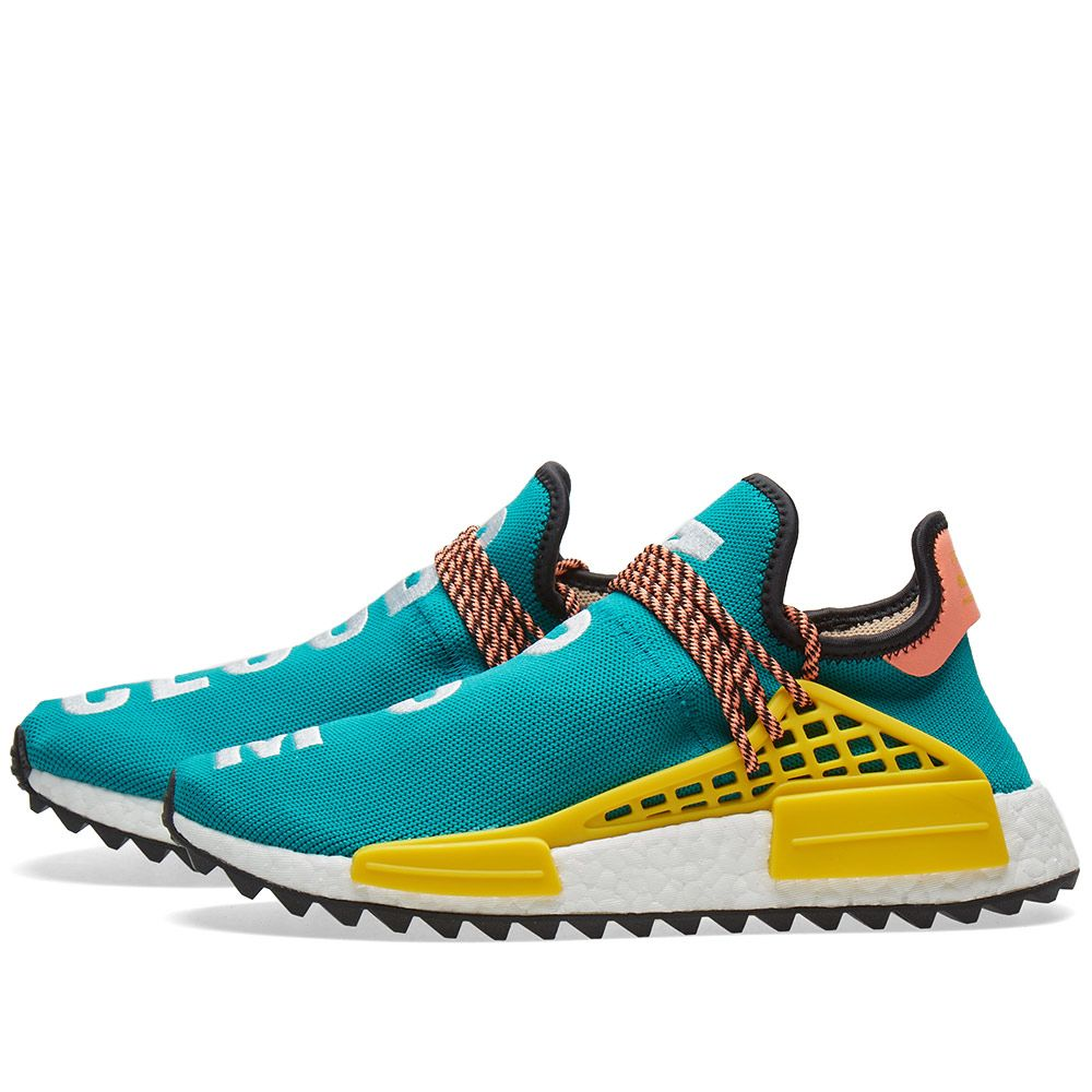 a5439108ea575 Adidas x Pharrell Williams NMD HU Trail. Sunglow ...