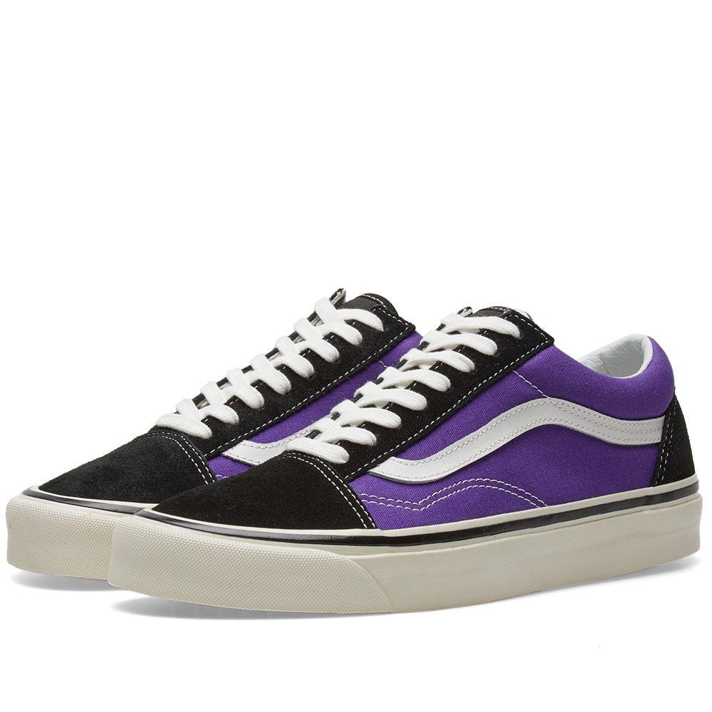 cfd4d322fbb7 Vans Old Skool 36 DX Black   OG Bright Purple
