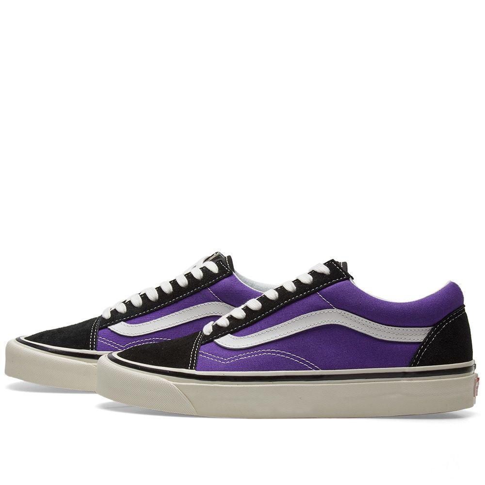 23a09abff65 Vans Old Skool 36 DX Black   OG Bright Purple