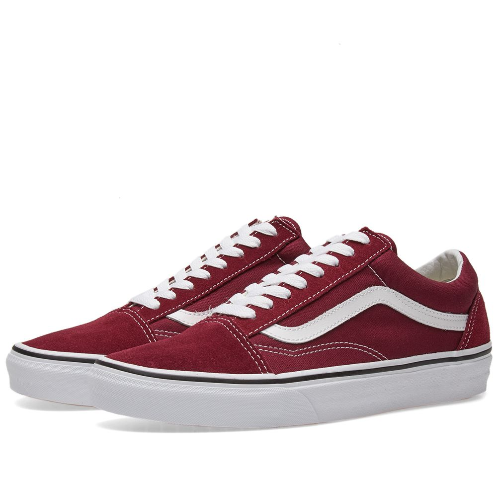06b5177399b8bc Vans Old Skool Burgundy   True white