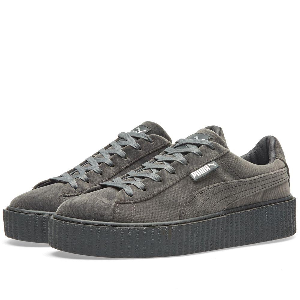 419f135777c4 Puma x Fenty Creeper Velvet Glacier Grey