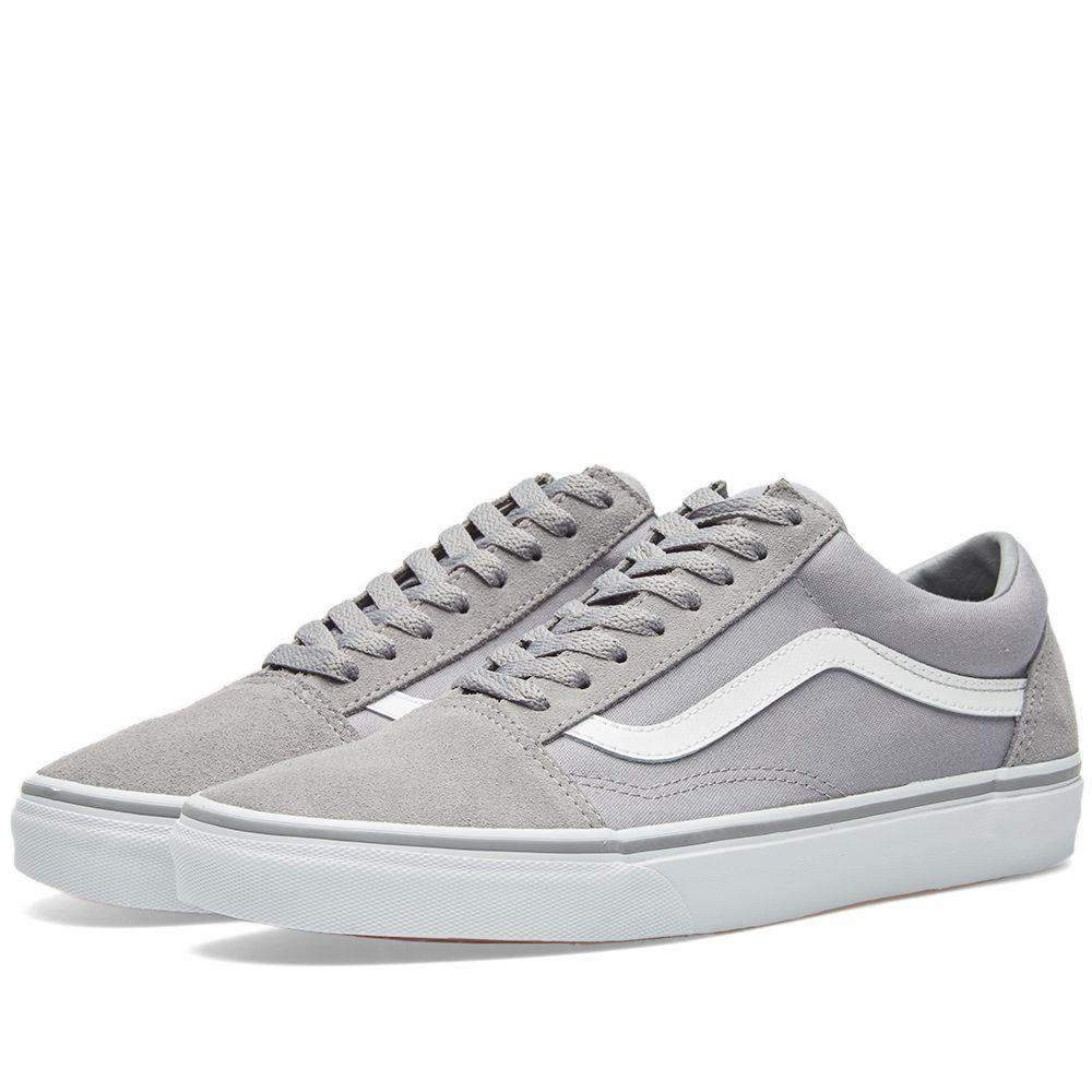 Vans Old Skool Frost Grey   True White  b0d78fbba