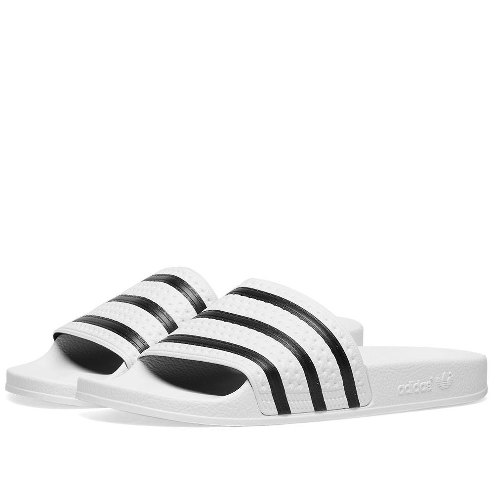 4d2ec07c64ca Adidas Adilette White   Black