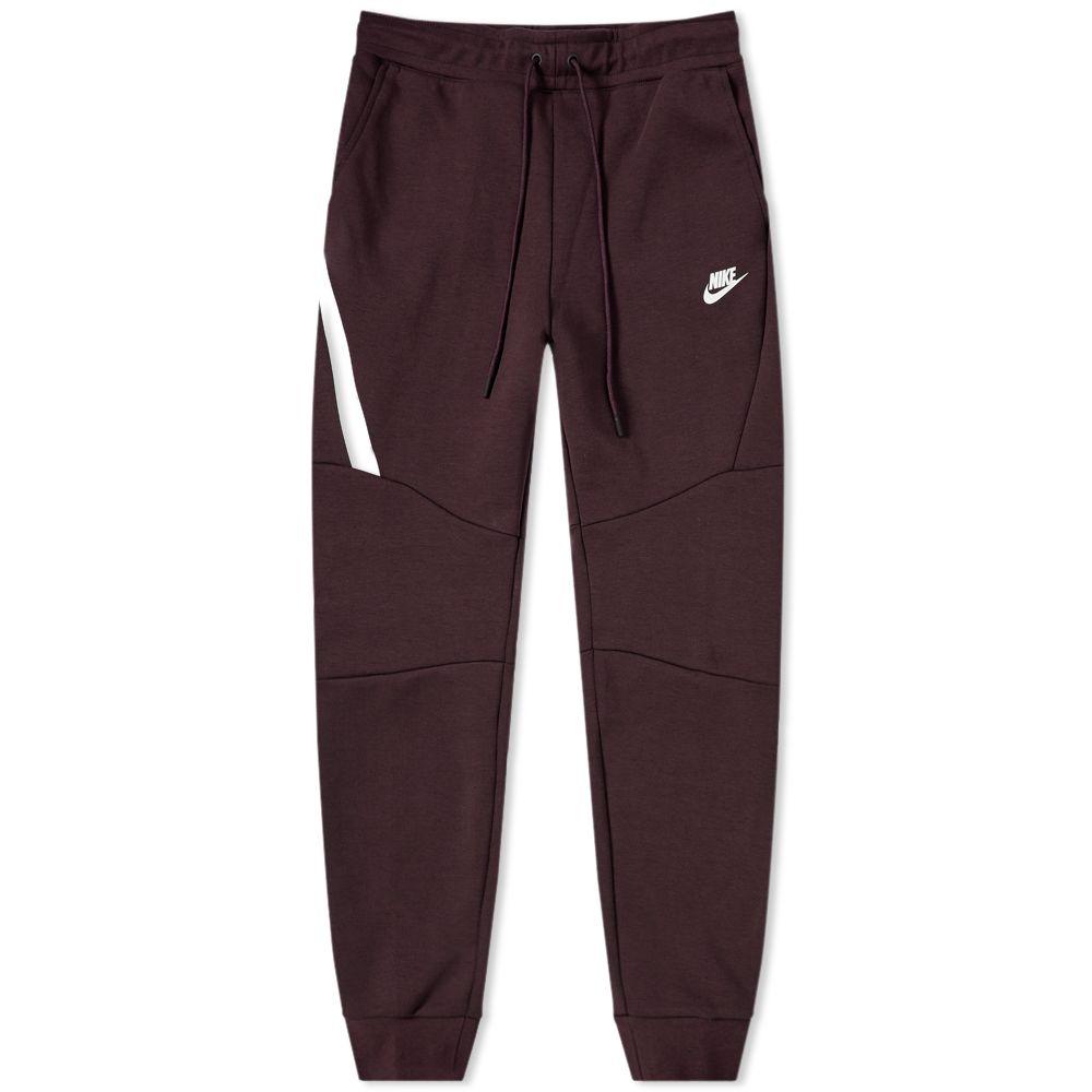 66de0fa83cff Nike Tech Fleece Jogger Burgundy Ash   White