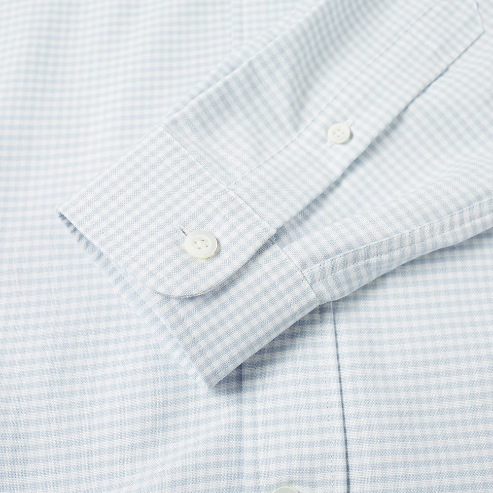 773aace7777 AMI Embroidered Heart Logo Button Down Oxford Shirt White