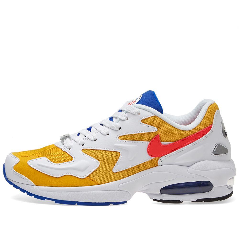 buy online fc22f d7434 Nike Air Max 2 Light Gold, Crimson  Blue  END.