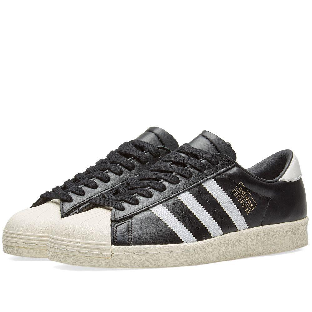 5e8bc66cabd2a5 Adidas Superstar OG Black   White