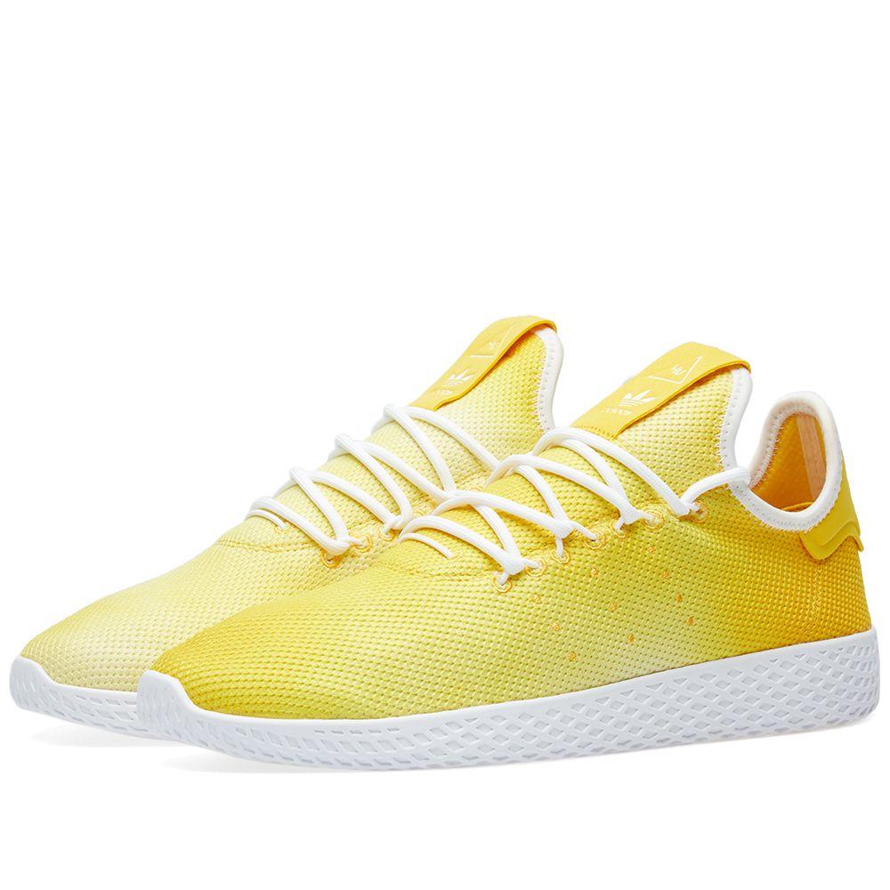 0ce01659e4fc1 Adidas x Pharrell Williams Hu Holi Tennis Yellow   White