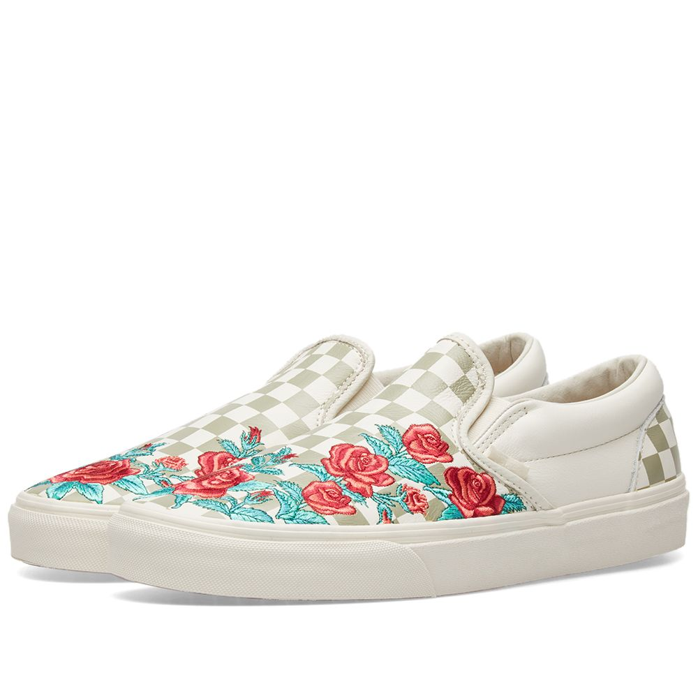 9ea31691ed Vans Classic Slip On DX Rose Embroidery Marshmallow   Turtledove