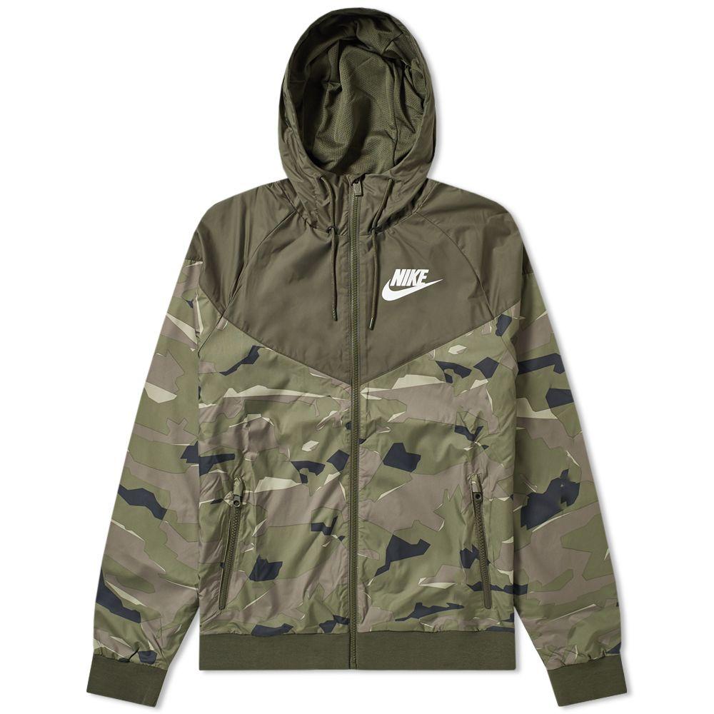 5c1a96300cff Nike Wind Runner Camo Jacket Cargo Khaki   White