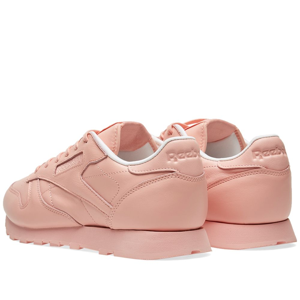 ec36449c9ff3 Reebok Women s Classic Leather  Pastels  Patina Pink   White