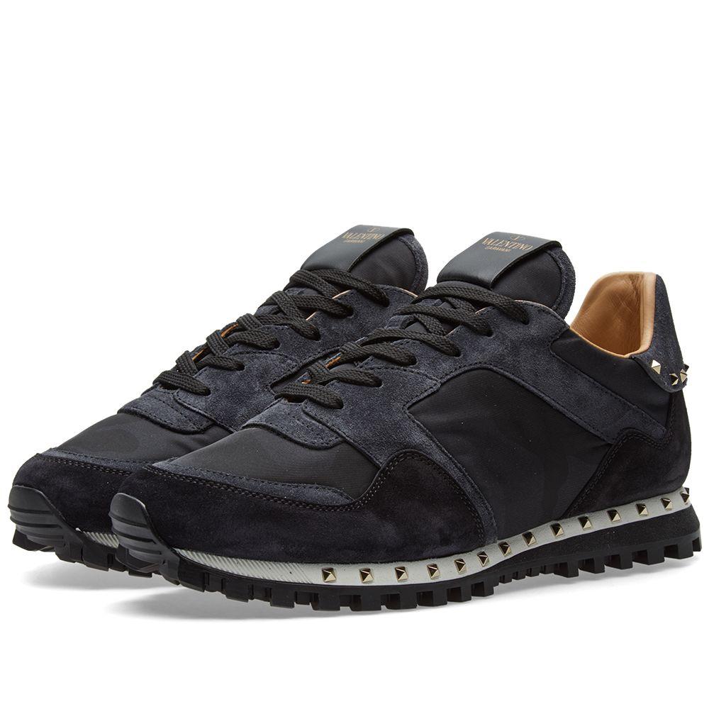 91415403bb40 Valentino Stud Sole Rockrunner Sneaker Black Camo