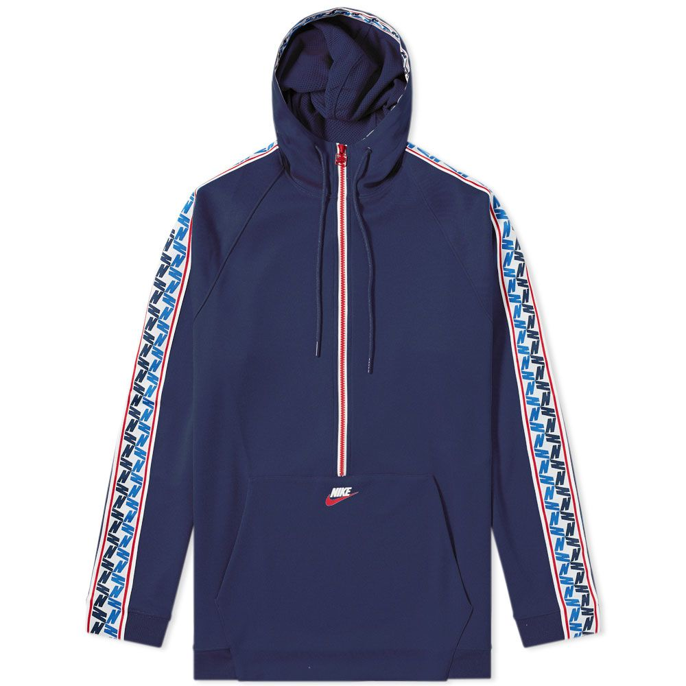 ed8b679bea homeNike Taped Poly Half Zip Hooded Sweat. image. image. image. image.  image. image. image. image. image