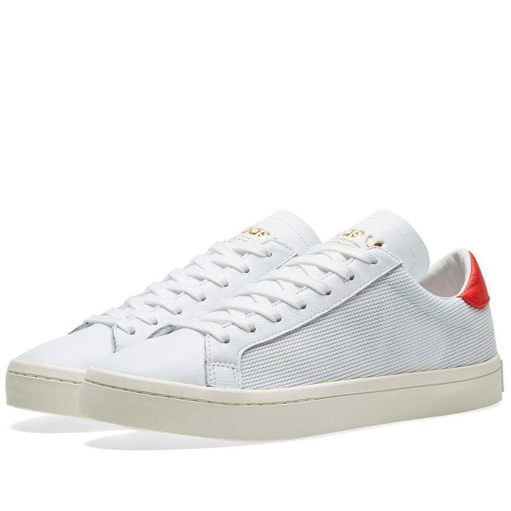 innovative design f0999 da817 Adidas Court Vantage White  Red  END.