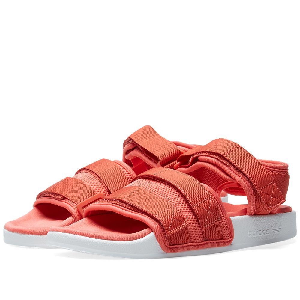 00abd3ca38b Adidas Adilette Sandal 2.0 W Trace Scarlet   White