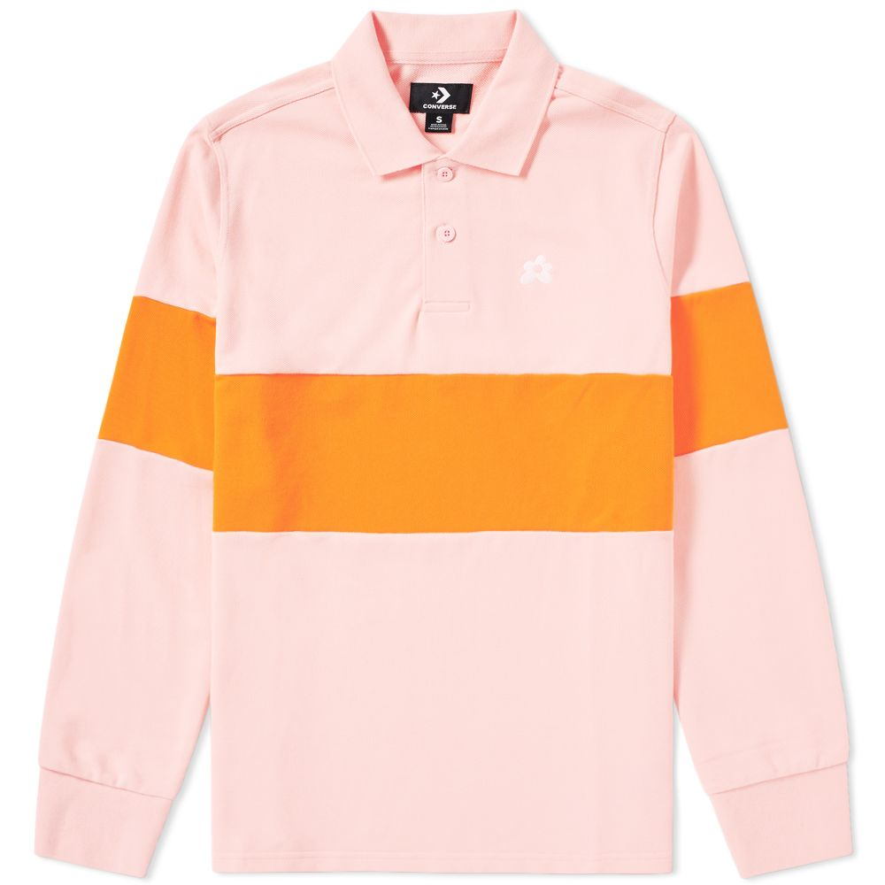 ca12e646bd3b Converse x Golf Le Fleur Long Sleeve Polo Candy Pink