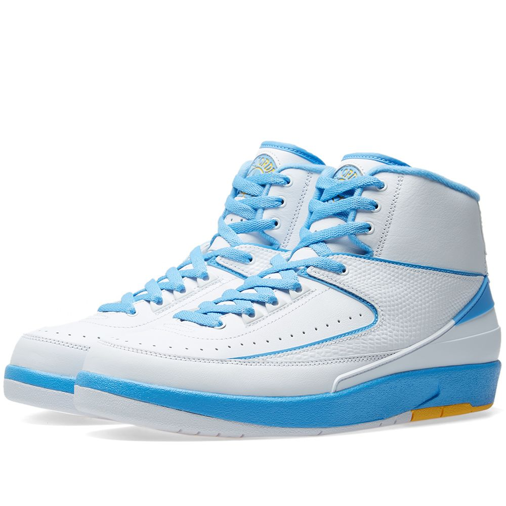 a590f28fb9f Air Jordan 2 Retro White, Blue & Varsity Maize | END.