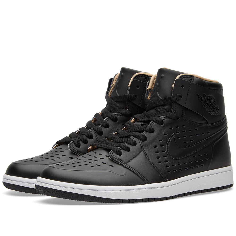 4e2206ae5395 Nike Air Jordan 1 Retro High Black   Vachetta Tan