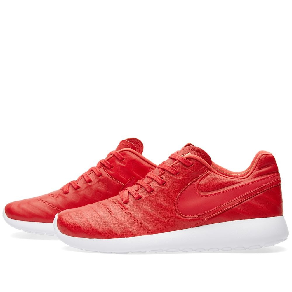 ba784ee906fa Nike Roshe Tiempo VI QS University Red   White