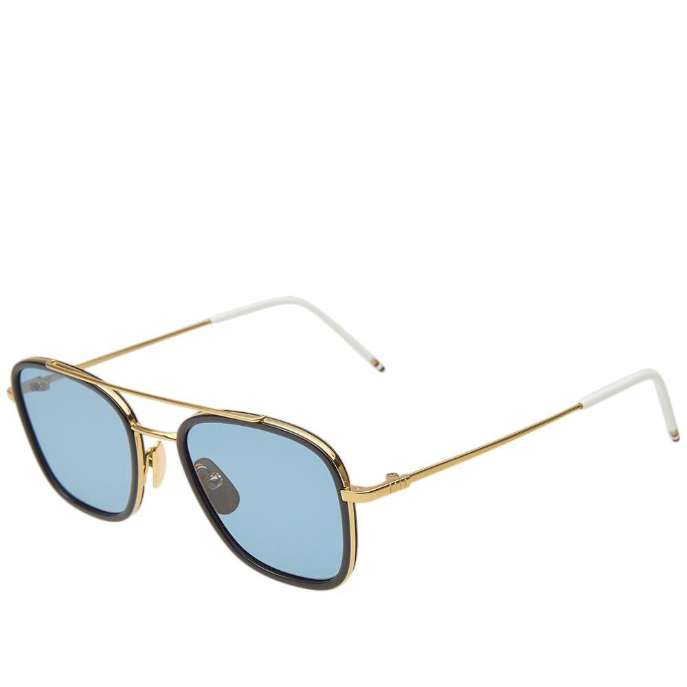 42eb627b125a Thom Browne TB-800 Sunglasses 18K Gold   Dark Blue