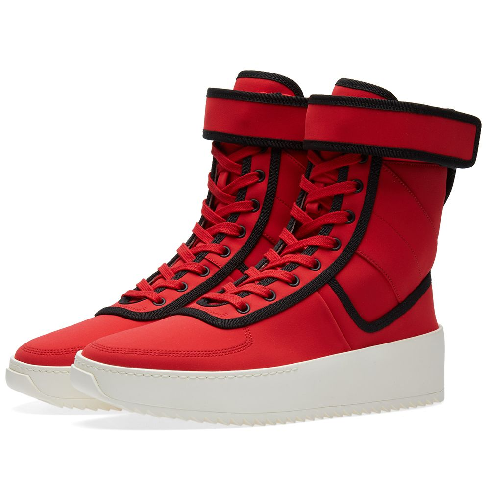 0eeb3355e4af Fear Of God Military Sneaker Red   Black