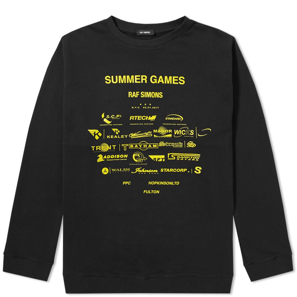 014b95dfa66 Raf Simons Summer Games Crew Sweat Black