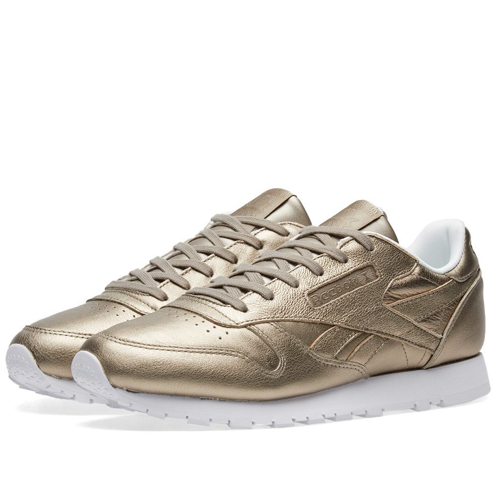 0ea9e60ec58 Reebok Classic Leather W Pearl Grey Gold   Ice