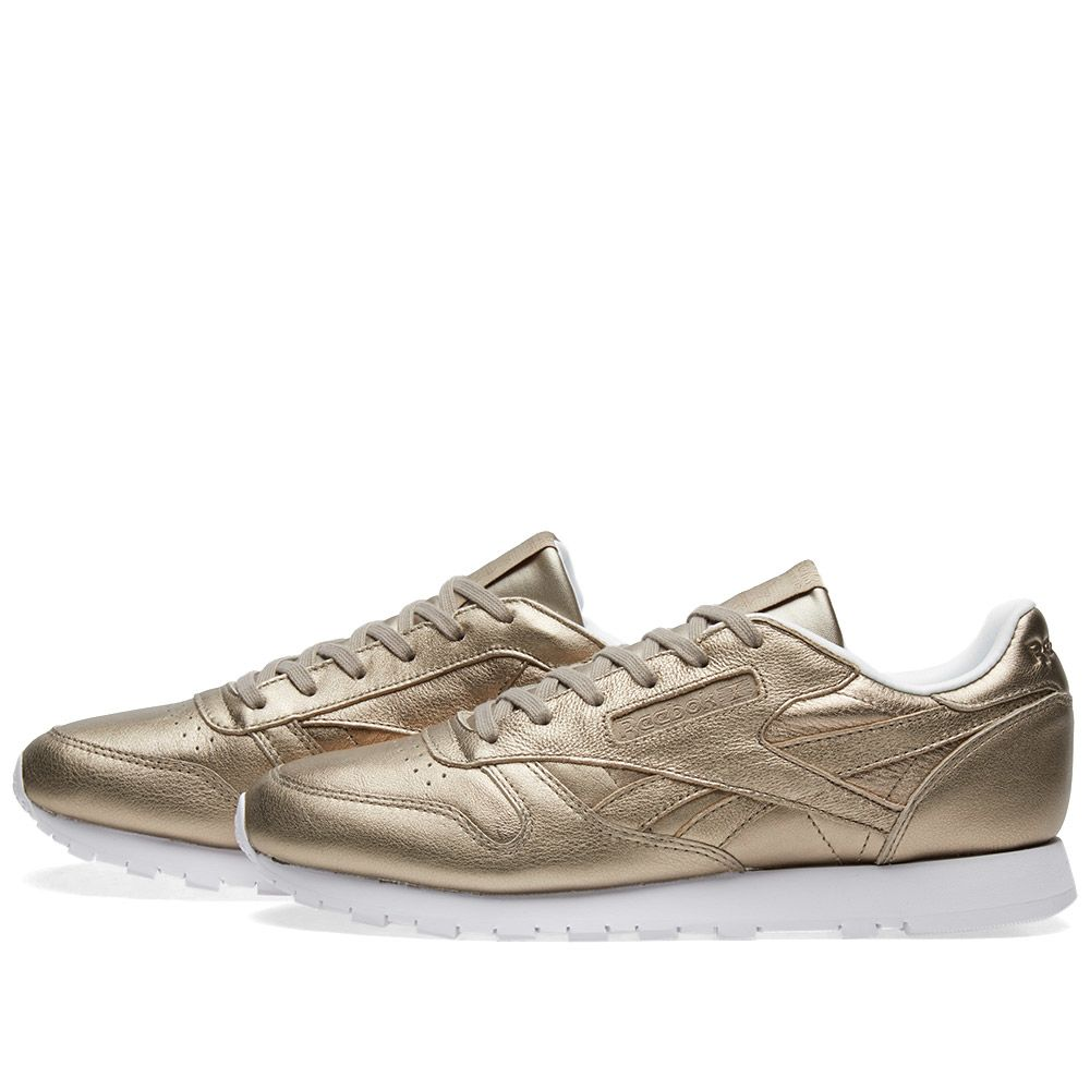 5d23276d5f27a Reebok Classic Leather W Pearl Grey Gold   Ice