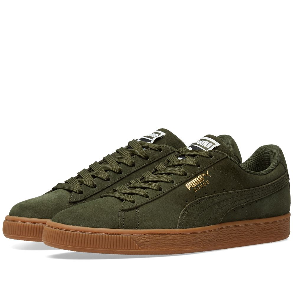 2548cc05d03 Puma Suede Classic Gum Sole Forest Night   Team Gold