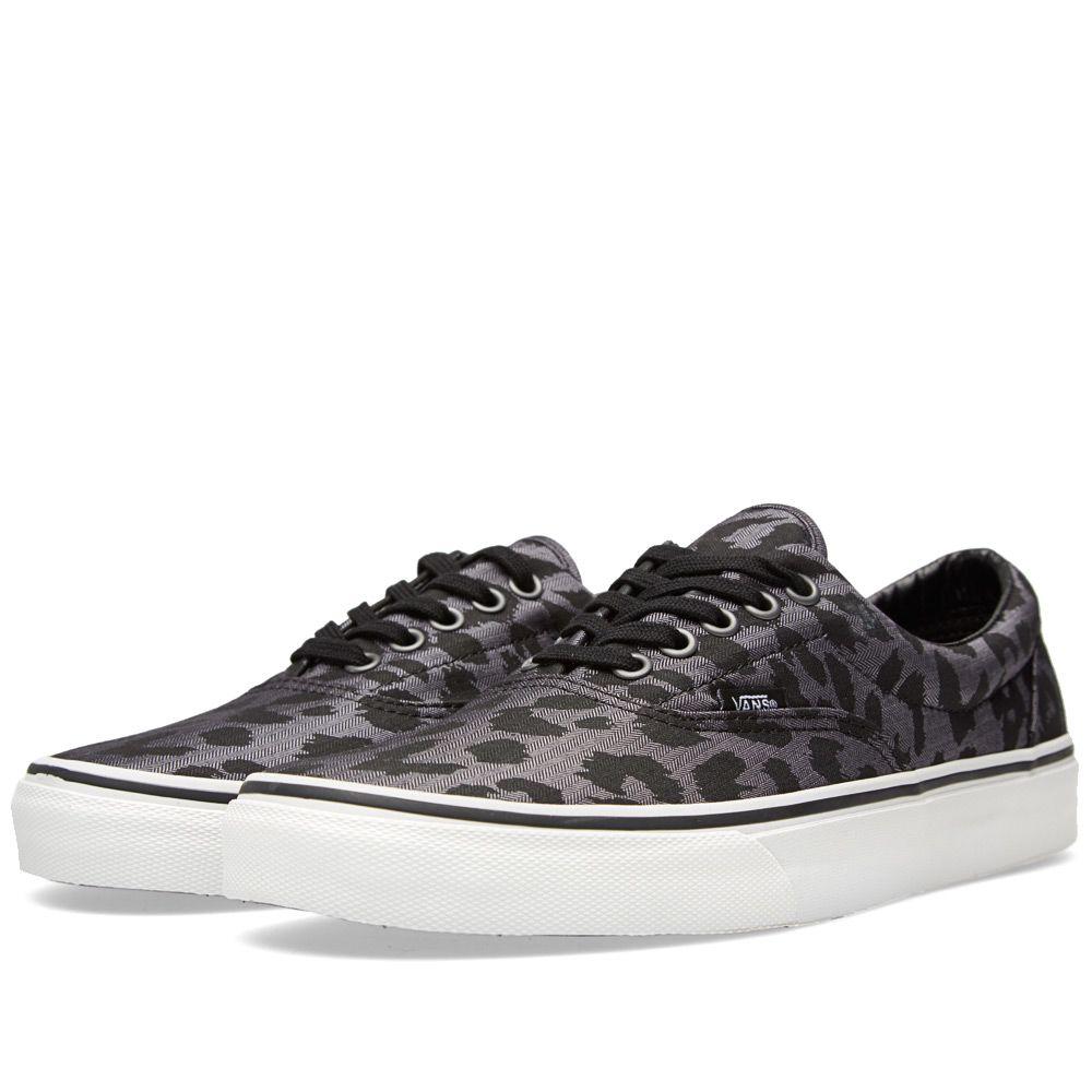 f65b81eb0c6309 Vans Era Herringbone Leopard   Black