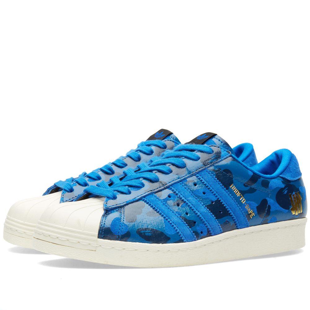 26e926e07cb8 Adidas Consortium x UNDFTD x BAPE Superstar 80v Blue Camo