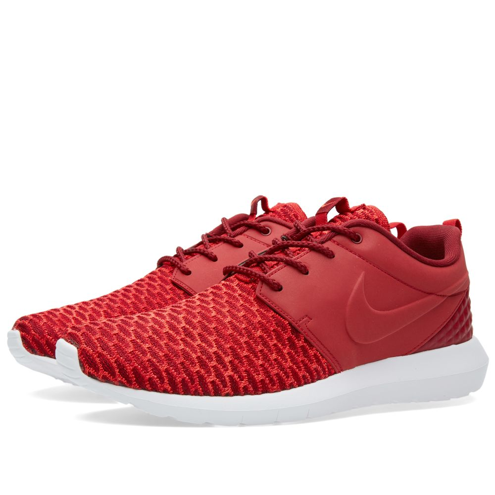 43987c32cbdf Nike Roshe One NM Flyknit Premium Gym Red   Team Red