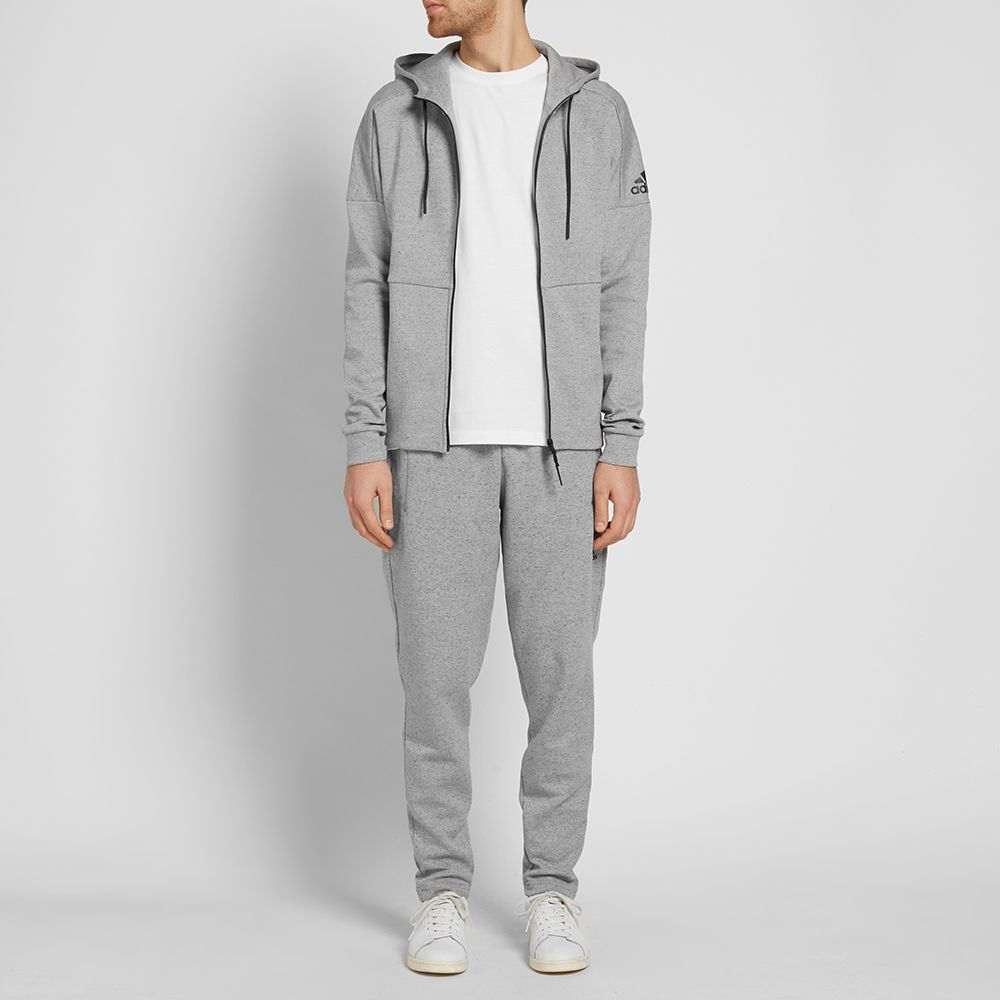 Adidas ID Stadium Zip Hoody Medium Grey Heather  2378bf2616