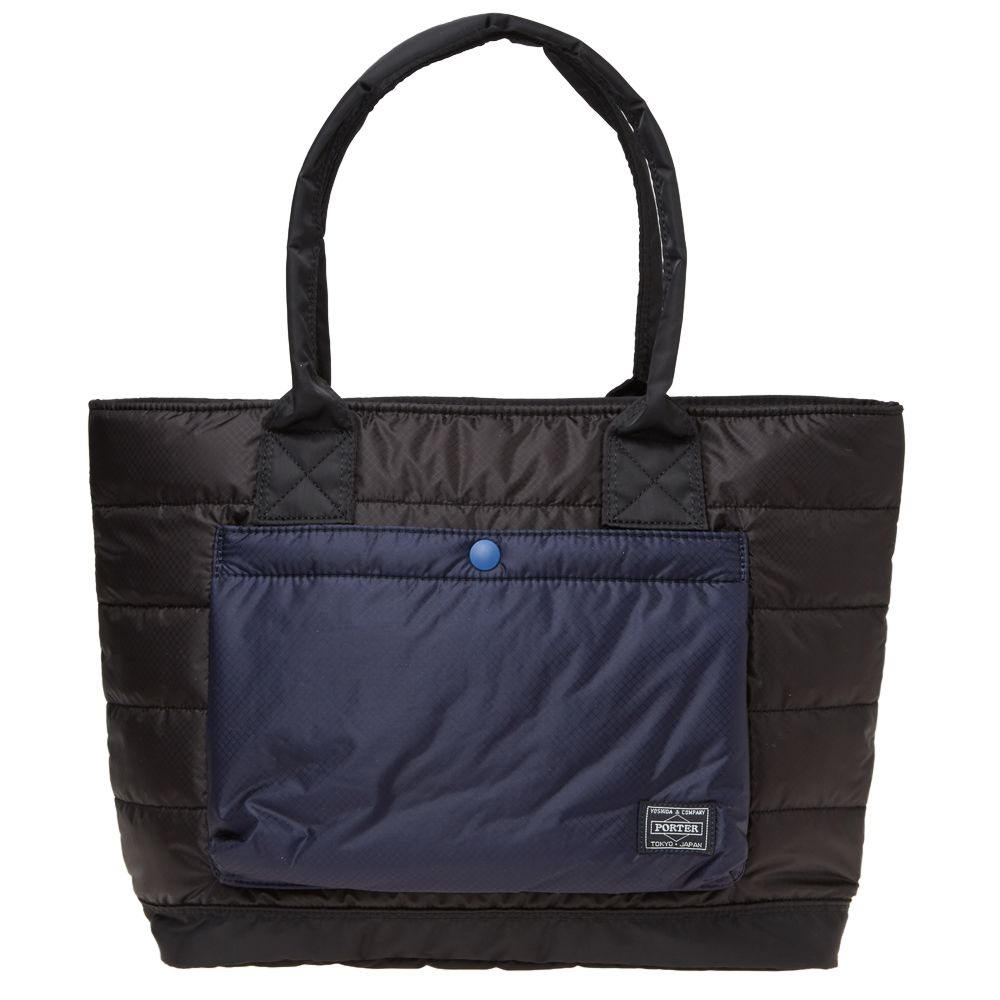 Head Porter Ruka Tote Bag. Black   Navy. S 439. Plus Free Shipping. image 2ac9ce04a02c9