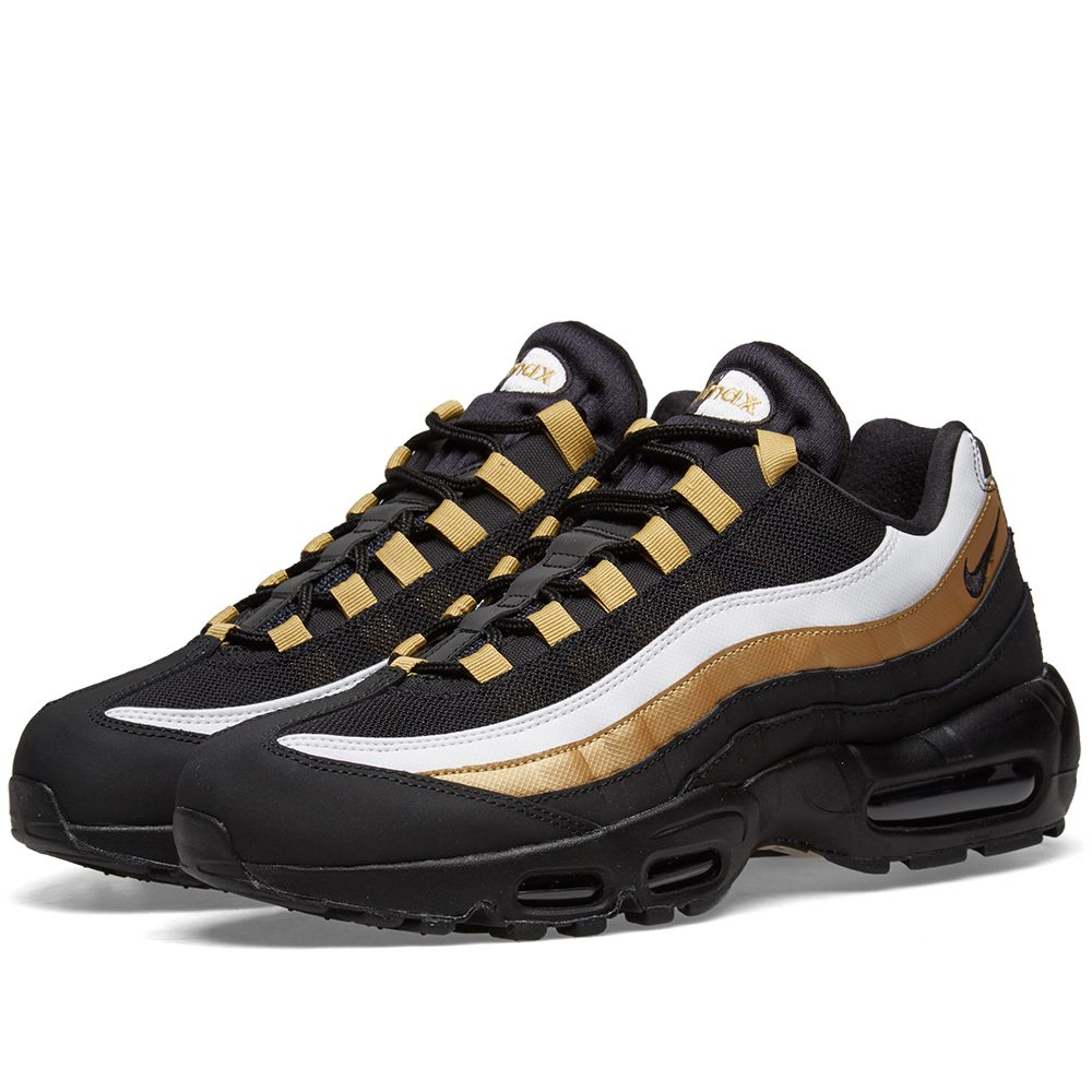 designer fashion dc930 d6828 Nike Air Max 95 OG Black, Gold  White  END.