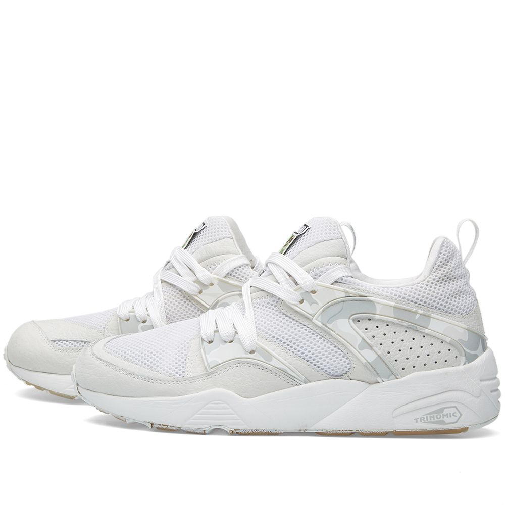 sale retailer 3b9cf 0565b Puma x BAPE Blaze of Glory White  END.