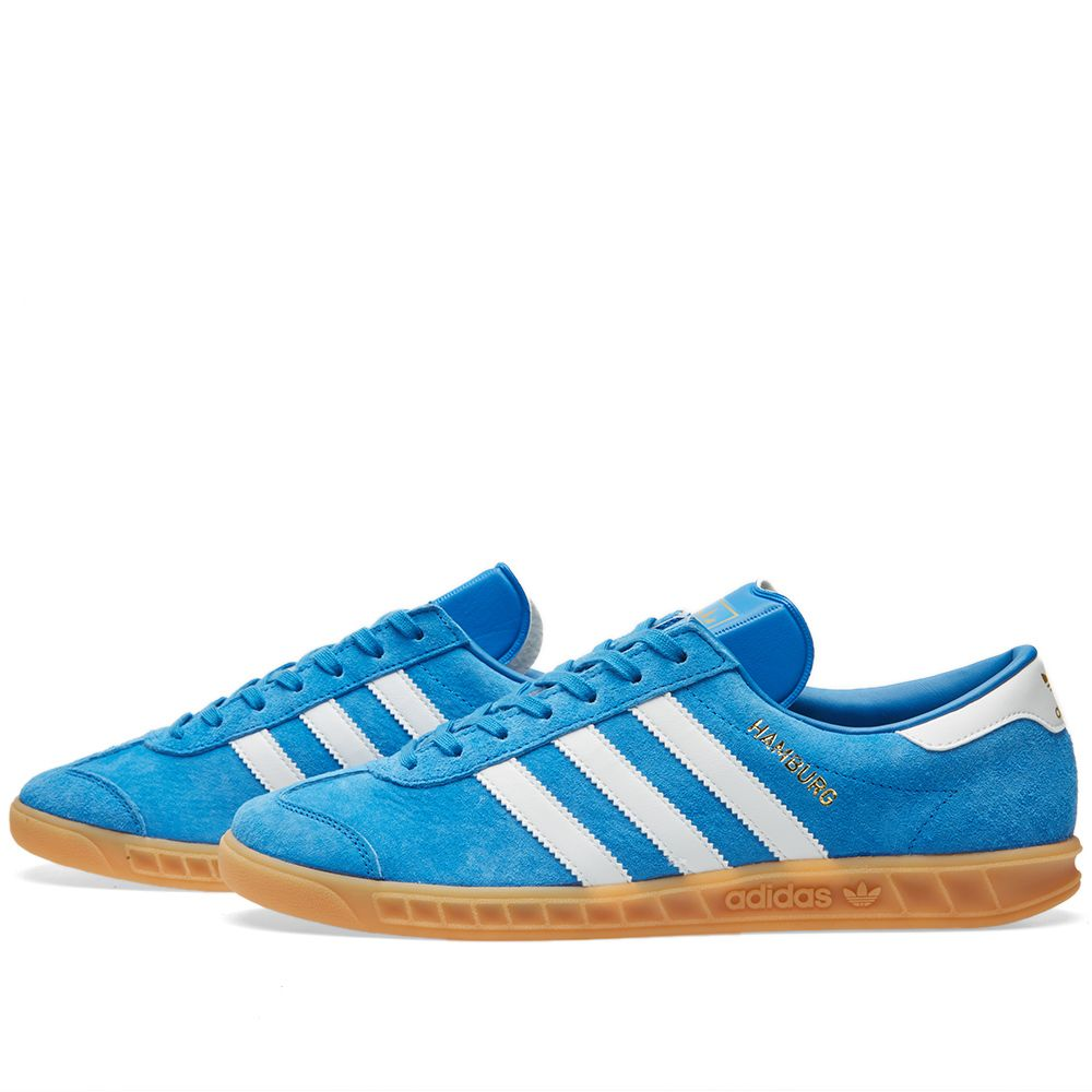 designer fashion a6cbb a1d07 Adidas Hamburg Bluebird  White  END.