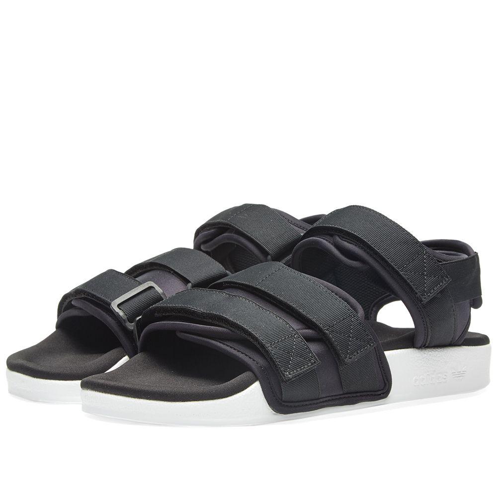 Adidas Women s Adilette Sandal W Black   White  6156474b9