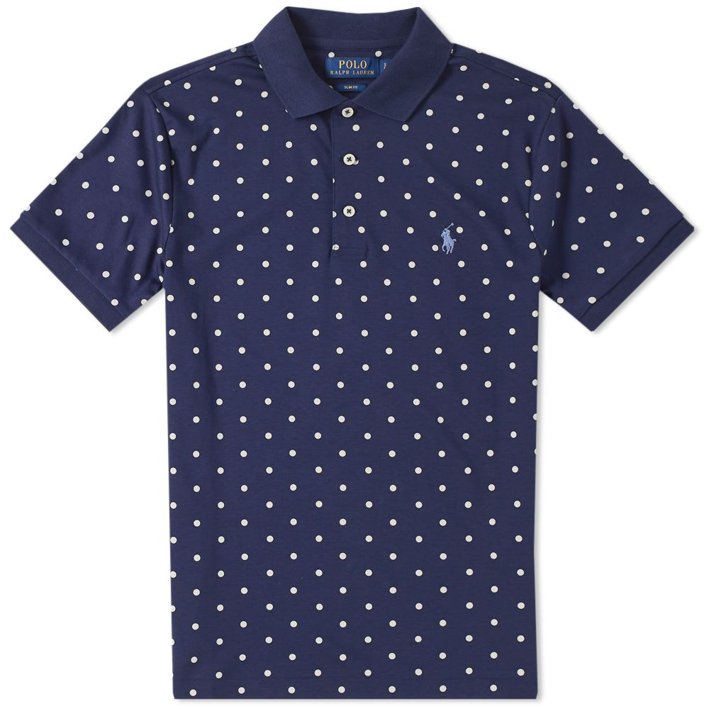 release date: 81c8b d0af6 Polo Ralph Lauren Polka Dot Polo Navy  END.