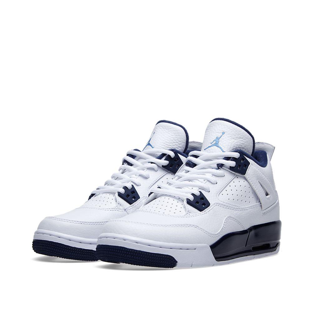 newest e82ad 31a72 Nike Air Jordan IV Retro BG  Legend Blue  White   Legend Blue   END.