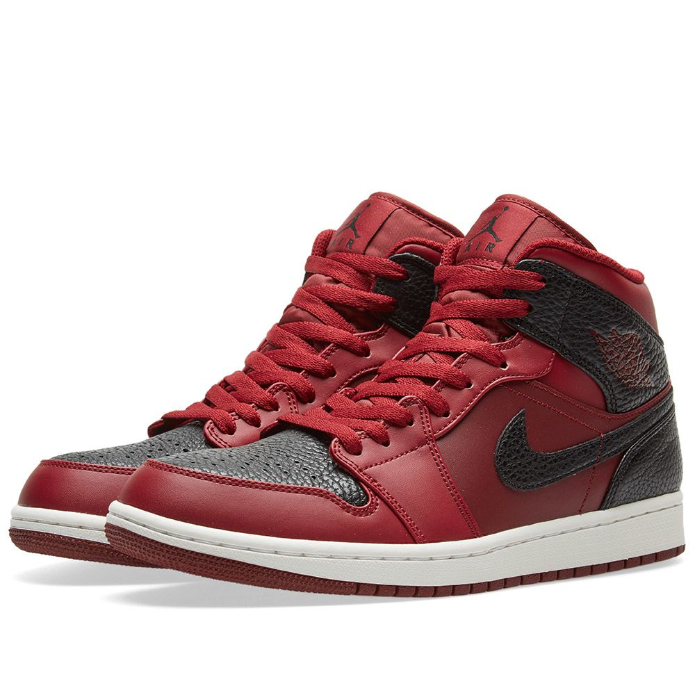 22b22203894093 Nike Air Jordan 1 Mid Team Red