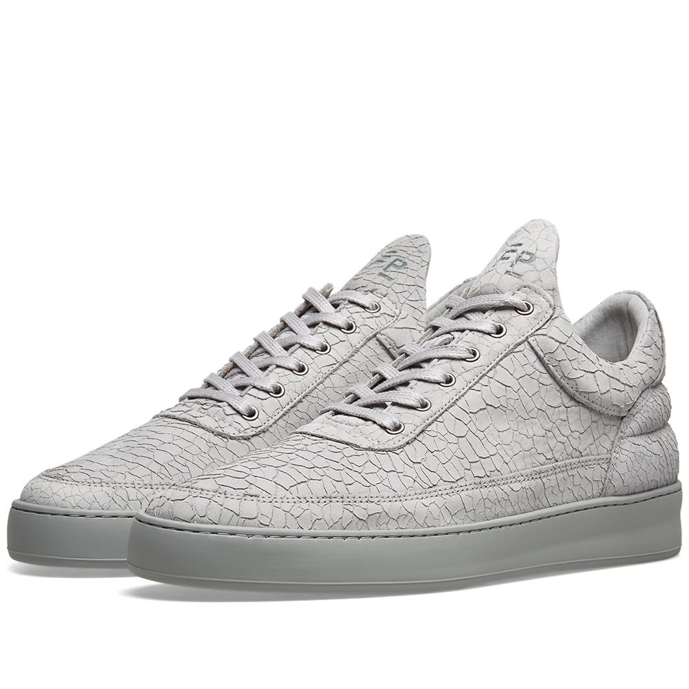 47804d0ef914 Filling Pieces Low Top Cracked Sneaker Grey