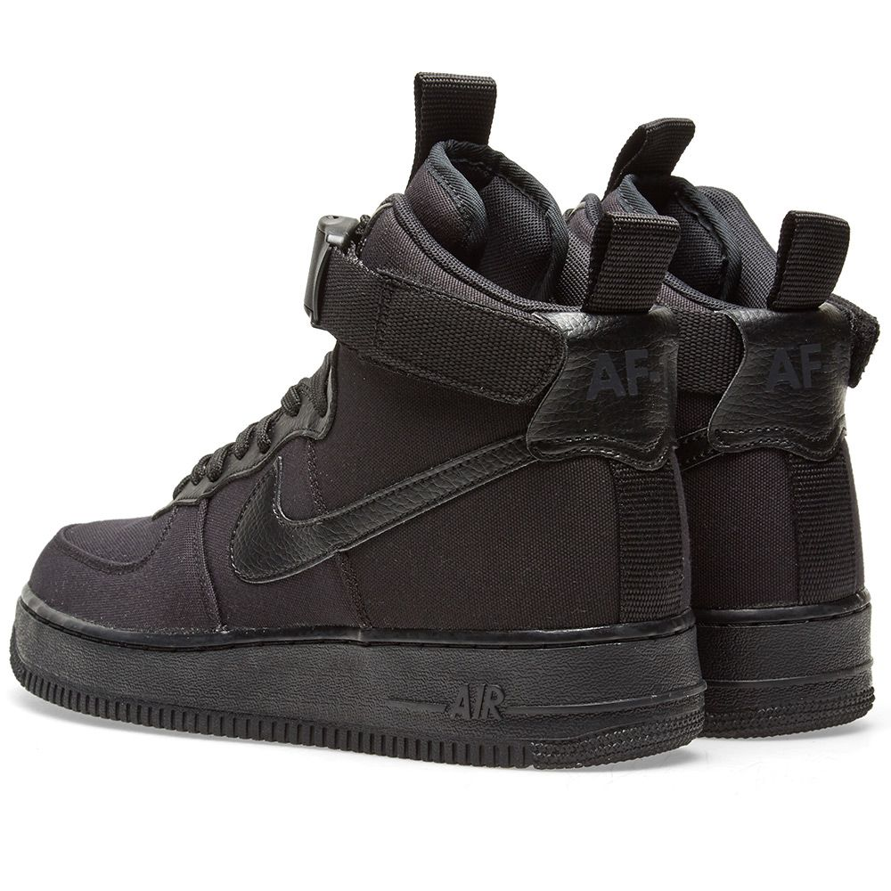 0ab045fae922 Nike Air Force 1  07 High Canvas Black   Anthracite