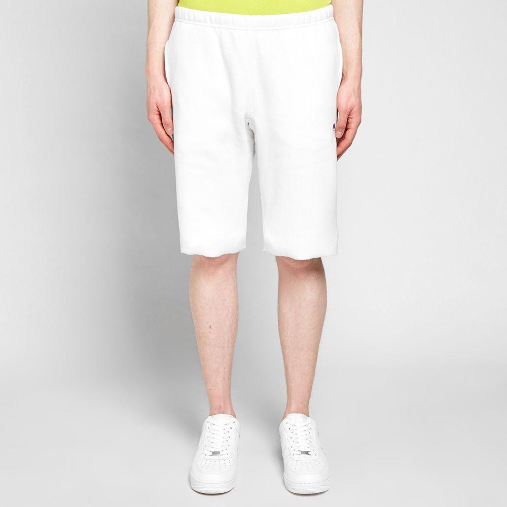 5e8358513d7 Champion Reverse Weave Sweat Short White