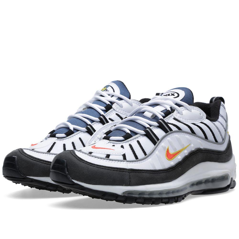 71e77f85f58 Nike Air Max 98 OG White   Team Orange
